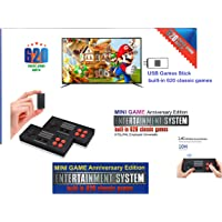MrDeal Retro Plug and Play Video Game Console Mario Contra Mickey Mouse AV Output Mini NES Console 620 in 1 Built-in…