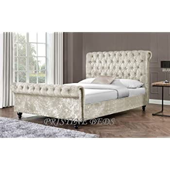 Pristine New Stunning Crushed Velvet Luxurious Chesterfield Bed ...