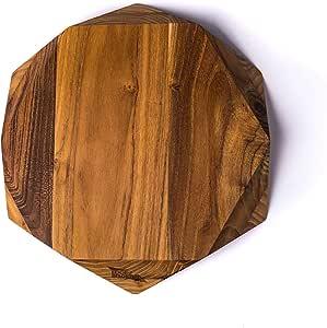 Edge of Belgravia TEAK STAR Tagliere in legno di teak, 35 x 35 x 4 cm