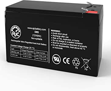 This is an AJC Brand Replacement 12V 7Ah UPS Battery APC Back-UPS 500 BK500MC