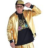 amscan 845899-55 gold Hip Hop Jackets, 1 Pc