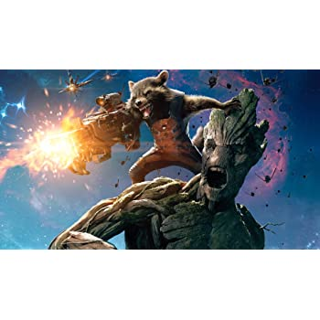 Posterhouzz Movie Guardians Of The Galaxy Rocket Raccoon Groot HD Wallpaper Background Fine Art Paper Print