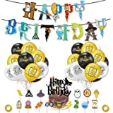 Mago Cumpleaños Fiesta Decoracion Temática,Harry Potter Cumpleaños Decoracion,Artículos de Fiesta para Harry Potter Suministr