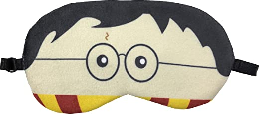 Harry Potter Eye Shade Blindfold Eyes Cover Sleeping Travel Rest Patch Blinder Relax , Complete black-out Design, snooze , slumber , hibernate ~ Super Soft & Comfortable For Proper Sleep With Adjustable Size Strap (Harry)