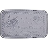 Ananth Jewels BIS Hallmarked Silver BAR10 grams Happy Wedding Anniversary Gift