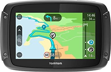 Tomtom Rider 42 Motorrad-Navi (4,3 Zoll, mit kurvigen und bergigen Strecken Speziell für Motorrüder, Karten-Updates, Regional 19 Lünder, Tomtom Traffic und Radarkameras-3 Monate, Freisprechen)