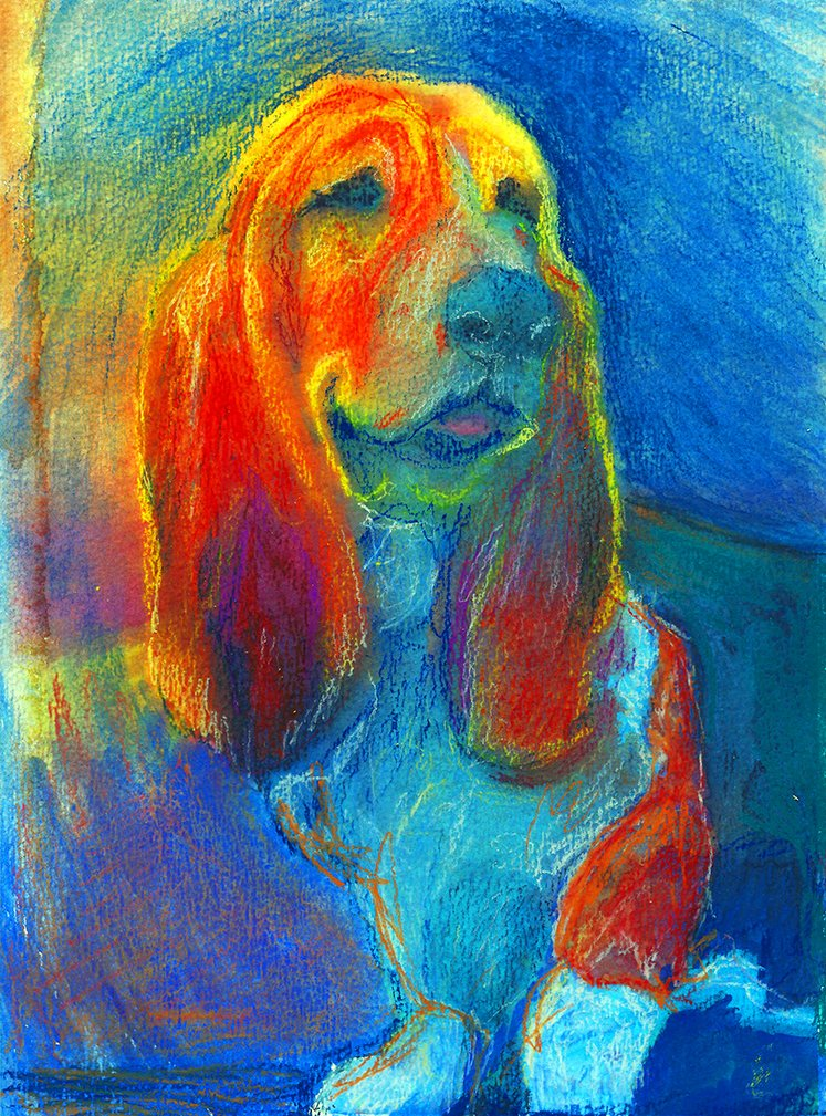 Basset Hound Art Print, Basset Hound Dog Gifts, Basset Hound Art Print, Choice of size Signed by Oscar Jetson