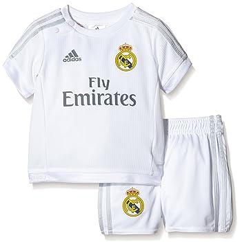 0cdee745a Adidas Performance Real Madrid 15/16 Home Replica Baby Boys Football Kit,  White/