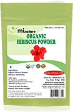 Mi Nature Hibiscus Powder Natural And Organic For Hair,Skin And Women's Health / (227G / (1/2 Lb) / 8 Ounces) - Resealable Zip Lock Pouch