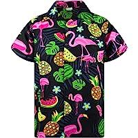 Hawaiian Shirt for Men Funky Casual Button Down Very Loud Shortsleeve Unisex X-Mas Christmas Music Gingerbread Santa…