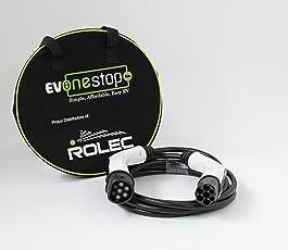 Premium cavo di ricarica veloce EV IEC62196tipo 2–Tipo 2/16A/5meter piombo Phev, borsa per trasporto ~ UK Garanzia Tesla, Zoe