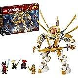 LEGO NINJAGO, Legacy Figure d'action, Le robot d'or avec Lloyd, Wu et le General Kozu, Set de construction Ninja, 120 pièces, 71702