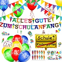 Einzigartig Schuleinführung Einschulung Deko Alles Gute Zum Schulanfang Girlande + 40m Wimpelkette + 30Luftballon + 21…