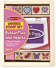 Melissa & Doug Butterfly and Heart Stamp Set, Multi Color