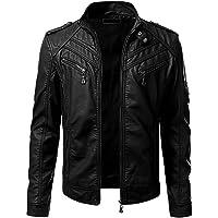 Blaq Ash Men's Faux Leather Biker Outerwear Jacket