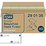 Tork grüne Zickzack Papierhandtücher Universal 290135 - H3 Falthandtücher für Papierhandtuchspender - 1-lagig, grün - 20 x 20