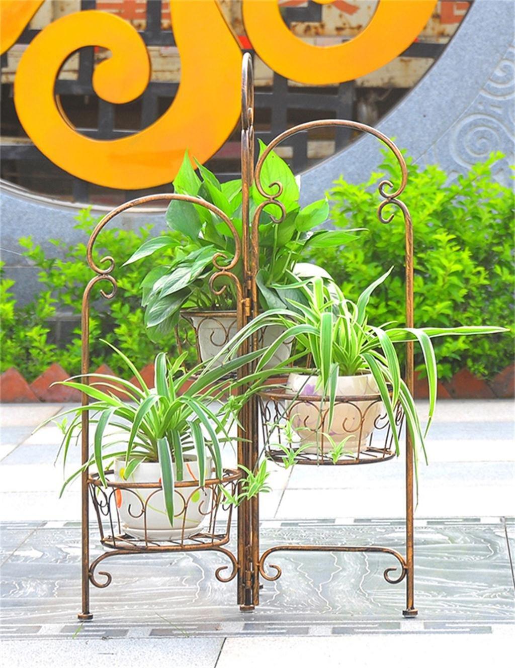 LB Ferro Flower Pot Holder Flower Pot stand europeo creativo Soggiorno Balcone Flower Pot Shelf Mens