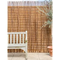 4.0 x 1.8m (13ft 1in x 6ft) Papillon Willow Natural Garden Fence Screening Roll Privacy Border Wind/Sun Protection