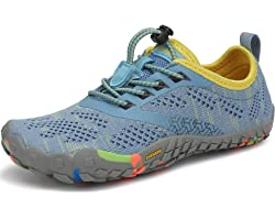 SAGUARO Kids Barefoot Shoes Minimalist Non-Slip Breathable Trail Running Shoes for Boys Girls