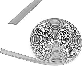 Reimo Tent Technology 10 Meter Kederband 12 mm Silber Kunststoff Leistenfüller für Wohnwagen und Wohnmobil