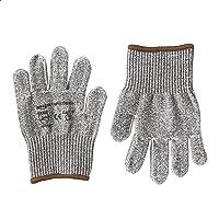 AmazonCommercial Cut-resistant Level 5 D Goldsilk Work Gloves, Child Liner, Mechanics, Gardening, Size L, 1 Pair