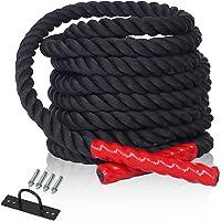 CCLIFE Schlachtseil Trainingsseil Fitnessseil Sportseil Schwungseil für Fitnessstudio Muskelaufbau 9m/15m Ø38 mm Battle Ropes