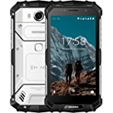 """Telephone Portable Incassable Debloqué, DOOGEE S60 Smartphone 4G IP68 Étanche Antichoc,Écran 5,2"""" FHD Helio P25 Octa Core 6Go + 64Go Caméra 21MP 5580mAh 12V2A Chargeur Android 7.0 Double SIM - Argent"""