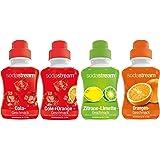 SodaStream Siroop 4-pack met cola-, oranje-, citroen-limoen- en cola-oranje-smaak (4 x 500 ml)