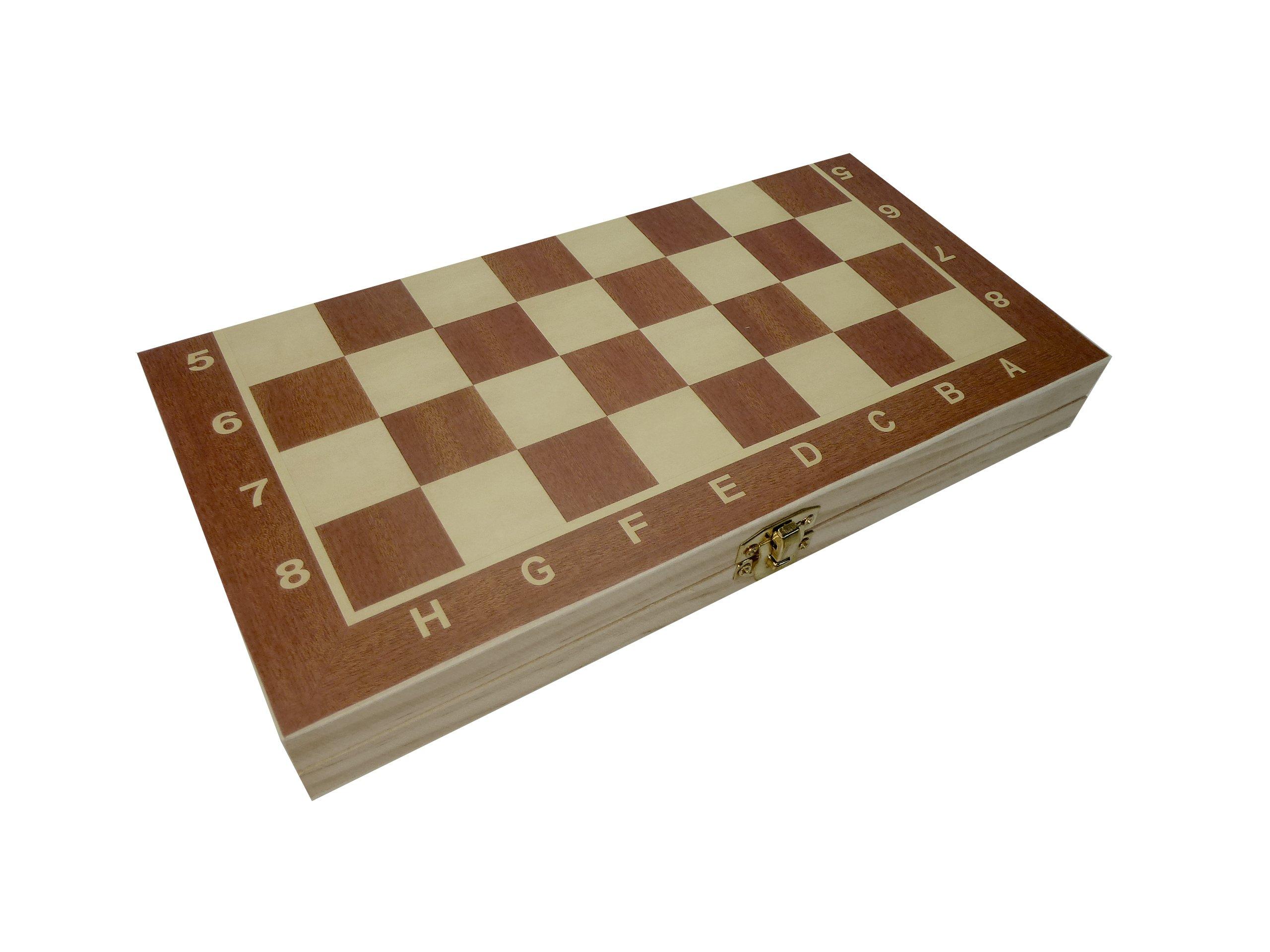 CT-Schach-Dame-Backgammon-Spielbrett-3-in-1-in-Klappbox-aus-Holz