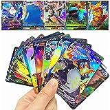 RULY Cartes Pokemon GX V Vmax, Cartes à Collectionner Pokémon, Jeu de Cartes de Bataille interactif, Cadeau enfant-20Pcs (3 V