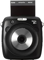Fujifilm Instax Square SQ10 Square Format Hybrid Instant Camera with LCD Screen Display Black Color Film Camera