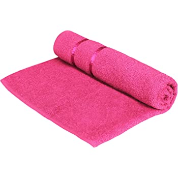 Story@Home 100% Cotton Soft Towel Single Piece, 450 GSM - 1 Full Size Bath Towel - Pink
