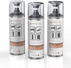 Auprotec Haftgrund Füller Auprofill Multi Filler Grundierung Für Autolack Primer Spray Grau 3x 400ml Auto