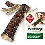 ChronoBalance® Horn-tuggstång L (halverad) för hundar – 100 % hjorthorn – tuggleksaker, tandvård, tuggsnack, horn, tuggben, t