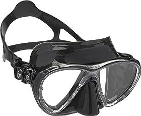Cressi Big Eyes Evolution - Maschera Subacquea di Alta Qualità - Disponibile in Silicone Crystal e Nero/Trasparente High Quality