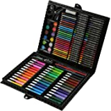 Aibecy 150pcs Conjunto de Dibujo de Arte Pintura para Niños Herramientas de Dibujo Color de Agua Pluma Cera Crayon Aceite Pas