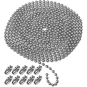 H/&D Crystal Cut Ball Pull Chain Metal Ceiling Light Fan Chain,Green Color,Pack of 2