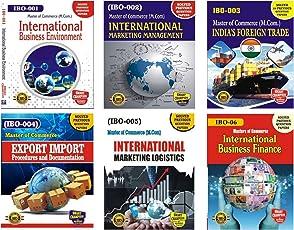 IGNOU Master Of Commerce (MCOM) IBO-1, IBO-2, IBO-3, IBO-4, IBO-5 AND IBO-6 COMBO OF M.COM 1st YEAR HELP BOOK