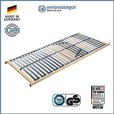 RAVENSBERGER Vita Med 5-Zonen-Schichtholz-Lattenrahmen mit 28 hochelastischen Birke-Federholzleisten | Starr | Made IN Germany - 10 Jahre GARANTIE | TÜV/GS-Zertifiziert Verschiedene Größen