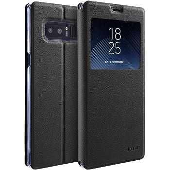 doupi Deluxe FlipCover para Samsung Galaxy Note 8 con Ventana Carcasa Case magnético Funda Caso tirón Estilo Libro Protector de Cuero Artificial, ...
