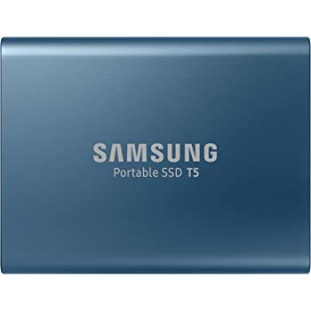 Samsung T5 250GB - Disco Estado sólido SSD Externo (250GB, USB), Color Azul