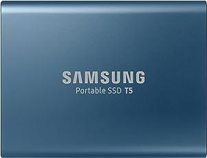 Samsung MU-PA500B/EU Portable SSD T5 500GB ((bis zu 540 MB/s) + USB Kabel Typ C auf C und Typ C auf A)