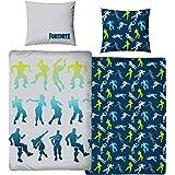 Character World Ropa de cama Fortnite 135 x 200 + 80 x 80 · 2 piezas para adolescentes y jóvenes · ForTNITE Dance Figuras Bat
