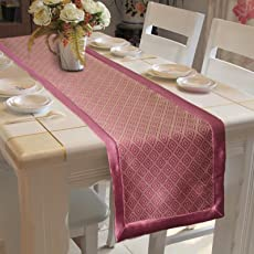 "Lushomes Jacquard Table Runner with High Quality Polyester Border (Size: 16""x72""), single piece"