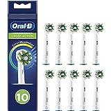 Oral-B CrossAction Testine di Ricambio per Spazzolino Elettrico con Tecnologia CleanMaximiser, Confezione da 10 Pezzi, Pacco