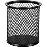 AmazonBasics Wire Mesh Pen Cup, Black