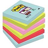"""Post-It 70005291227 - Post-it Super Sticky - Pack de 6 blocs notas adhesivas colección """"Nuevos colores nuevos lugares"""", Miami"""