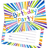 Olivia Samuel Children's Birthday Party Invitations - Kids Ready to Write Party Invites - A6 Postcard Size with envelopes (Pack of 10)