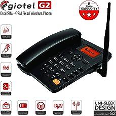 GIOTEL G2 GSM Dual SIM Fixed Wireless Phone (Black)