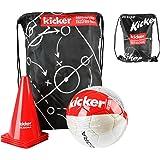 """Fotbollsset """"kicker Edition"""", matchplan inklusive fotboll (Gr. 5), nål, gymväska & 4 pyloner"""